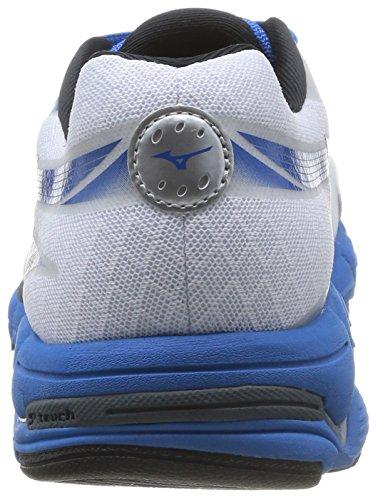 Mizuno  Wave Connect 2, Chaussures de course pour homme Directoire Blue/Silver/Orange White (White/Black/Directoire Blue)