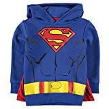 DC Comics - Sweat-shirt à capuche - Garçon - Bleu - Small