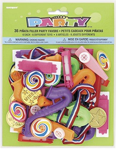 Unique Party - Paquete de 36 regalitos de relleno de piñata para...