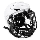 MagiDeal Casque Réglable Hockey Sur Glace et Masque Facial Pour Homme Femme Équipement Protection - M