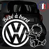 Sticker bébé à bord pour voiture Auto 20 cm Blanc - Anakiss