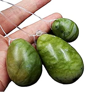Grüne Jade Yoni Eier Set Massage Stein für Frauen zu trainieren Beckenmuskeln Kegel Übung