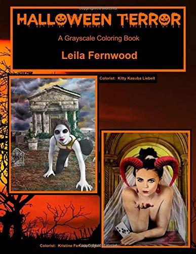 (Halloween Terror: A Grayscale Coloring Book)