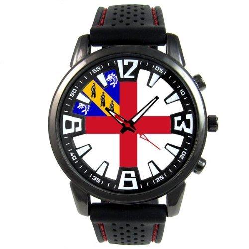 herm-bailliage-de-guernesey-drapeau-pays-montre-homme-bracelet-silicone-noir