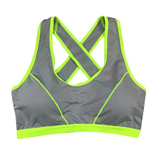 LSYYQX Sport-BH Frauen Gepolsterte Laufen Yoga Push Up Sport-BH Athletic Fittness Seamless Stretch Tank Top