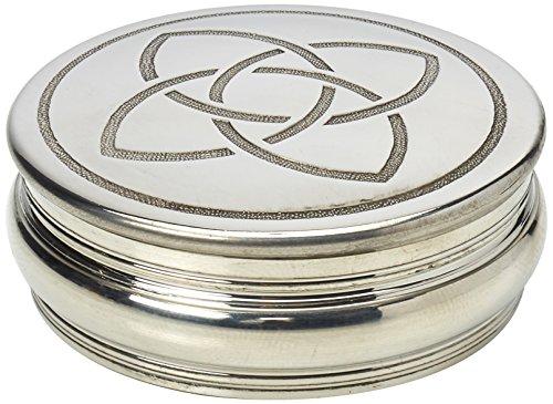 Edwin Flasque Celtique & Co Boîte à Bijoux Design Corde, 50 mm, en étain