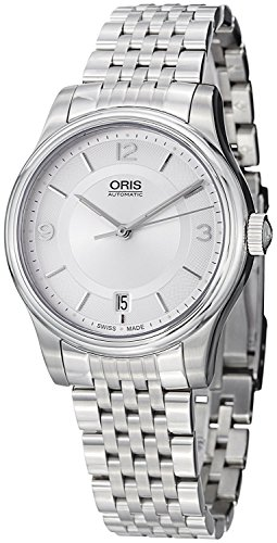 Oris-Classic-Date-Automatic-Stainless-Steel-Mens-Watch-Silver-Dial-Date-733-7578-4031-MB
