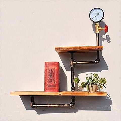 GUJJ Die an der Wand hängenden hölzernen Vitrinen die dreistufige Architektur erinnert an die Wasserleitungen eingerichtet zugeben, Bücherregale, Abs. B