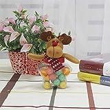 Weihnachts Süßigkeitenglas Pralinenschachtel, 2 Stück Multifunktions Kleine Runde Pentagram Stoff Puppe, Geeignet Für Einkaufszentren, Supermärkte, Hotels