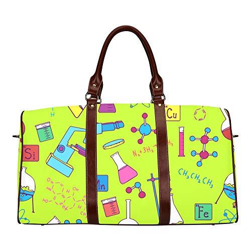 Reise-Seesack Symbol für Wissenschaft und Bildung wasserdichte Weekender-Tasche Reisetasche Damen Damen-Einkaufstasche Mit Mikrofaser-Leder-Gepäcktasche