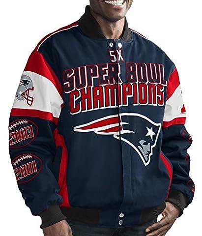 New England Patriots NFL G-III Super Bowl Cotton Twill Commemorative Jacket Veste