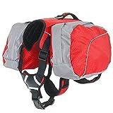 Hund Rucksack Leicht und Wasserdicht Pet verstellbar Satteltasche Hundegeschirr Carrier mit abnehmbarer Taschen für Outdoor-Reise Wandern Camping Training