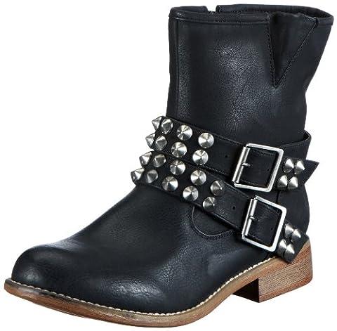 Rieker 95661-00, Damen Halbschaft Stiefel, Schwarz (schwarz / 00), 42 EU (8 Damen UK)