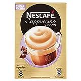 Nescafé Cappuccino Choco Preparato Solubile in Polvere con Caffè Latte e Cacao - 8 Buste