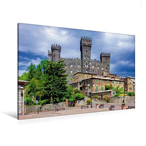 Premium Textil-Leinwand 120 cm x 80 cm quer, Castello di Torre Alfina | Wandbild, Bild auf Keilrahmen, Fertigbild auf echter Leinwand, Leinwanddruck: Burgen in Italien (CALVENDO Orte)