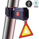 Best Bright Bike Tail Light - USB ricaricabile e impermeabile luce posteriore per bicicletta - compatto e robusto - LED rosso bicicletta fanale posteriore con 5 modalità
