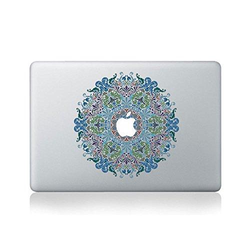 Aufkleber für Macbook 13Zoll / 15Zoll, Vinyl, Mandala-Muster mit Blumen