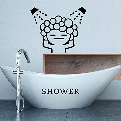 BAWANGLONG kreative Baby Liebe dusche Blase wandaufkleber für Bad schiebetür wasserdicht Glas dusche wandtattoos Kunst wandbild