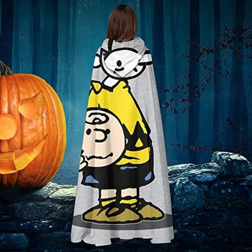AISFGBJ Wimpy Chuck Charlie Brown Kid Peanuts Unisex Weihnachten Halloween Hexe Ritter Umhang Vampir Umhang Cosplay - Children's Charlie Brown Kostüm