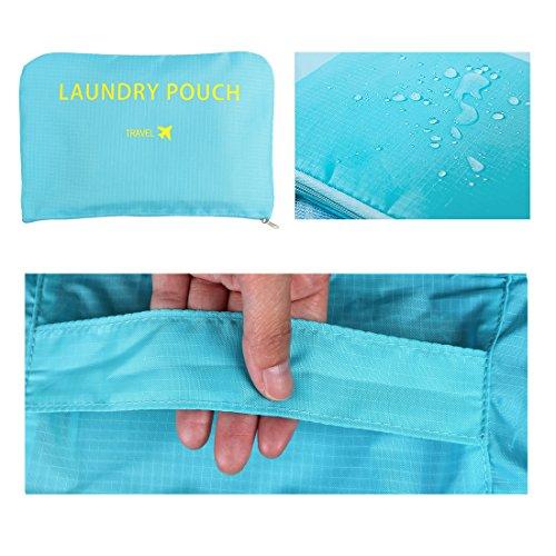 sourcingmap® 6stk. Himmelblau Wasserbeständig Kleidung Aufbewahrungsbeutel Würfel Reisen Organizer