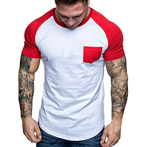 Gemütliche Button-up-shirt (Herren Core Stretch Slim Cneck Tee T-Shirt)