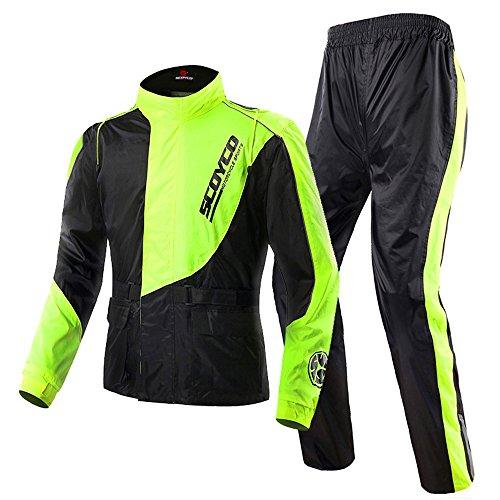 Scoyco RC01 Motocicleta Lluvia Abrigo Pantalones Conjunto Protector Engranaje Motorcycle Rain Coat...