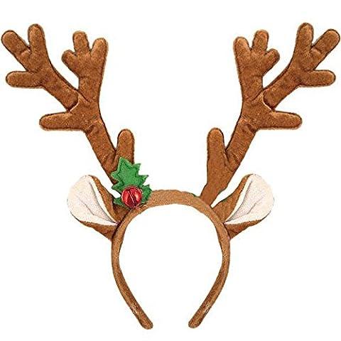 German Trendseller® - Weihnachts Rentier ┃ 31 cm ┃ Rentier - Geweih ┃ Weihnachtsmarkt┃