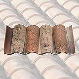 Antikas - 12 Stk / 1 lfdm - Mönch Nonne Halbschale Dachziegel aus Ton - Model Provence
