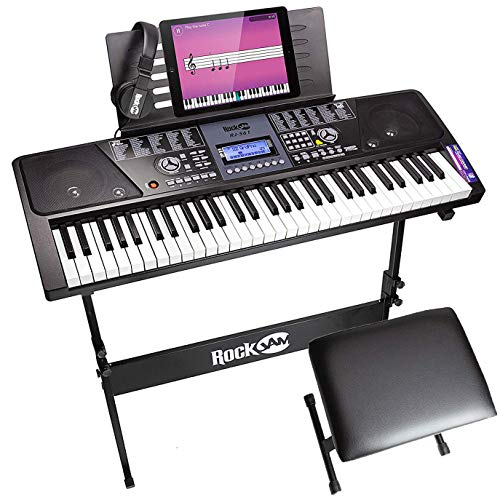 RockJam RJ561 61-Keys Electronic Keyboard SuperKit (Black)