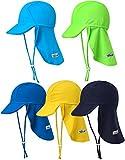 Vaenait baby Jungen Schwimmkappe Swim hat UV Flap Cap Blue S
