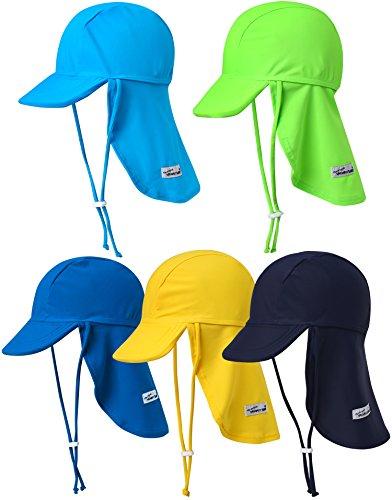 Vaenait baby Jungen Schwimmkappe Swim hat UV Flap Cap Lime Green L