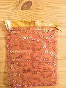 SODIAL(R) 25X Silver Organza Wedding Favor Gift Bag Pouch 12x10cm