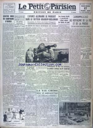 PETIT PARISIEN EDITION DE PARIS (LE) [No 24006] du 17/03/1943