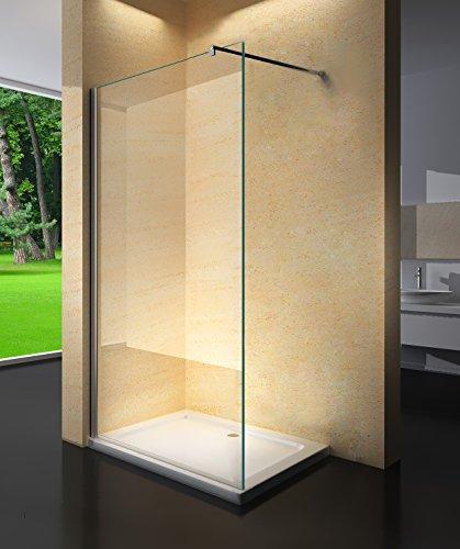 Yellowshop box parete doccia fissa Walk In cristallo 8 MM trasparente o puntinato opaco