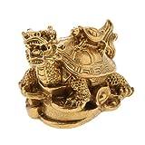 LOVIVER Feng Shui Gold Drachenschildkröte Reichtum Schutz Statue Figurine - Schildkröte
