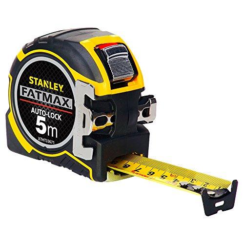 Stanley FatMax Pro Bandmaß Autolock (5 m Länge, 32 mm Klingenbreite, BladeArmor-Überzug, Bi-Material Gehäuse) XTHT0-33671