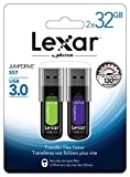 Lexar JumpDrive S57 32GB USB 3.0 Flash Drive  LJDS57-32GABEU2 (2Pack)