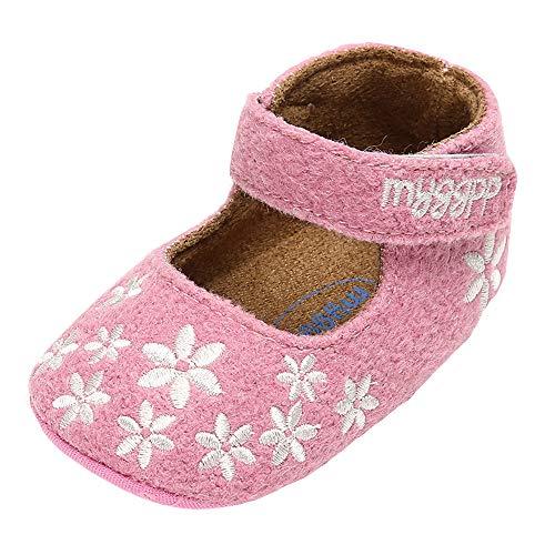 Liuchehd scarpine neonato e ragazzi scarpe in cotone morbide soled scarpe principessa ricamo calzature scarpe da culla scarpine primi passi 0-18 mesi