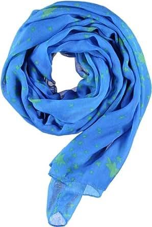 PASSIGATTI Damen Schal 44609, Gr. one size, Grün (2-grün-blau)