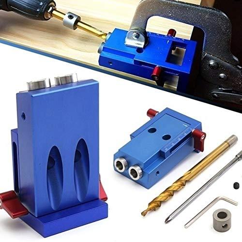 Shentesel Langlebig Mini Pocket Slant Hole Jig Kit with Step Drilling Bit Holzbearbeitung Werkzeug