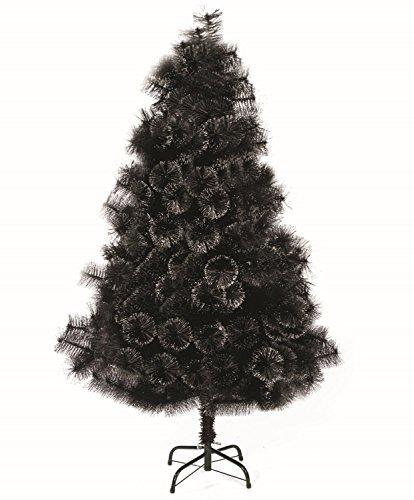 FEERIC LIGHTS & CHRISTMAS ALBERO DI NATALE artificiale di colore NERO - Originale con le sue paillettes effetto palla - Altezza 2.10 m - Piedi in metallo - Alta Qualità
