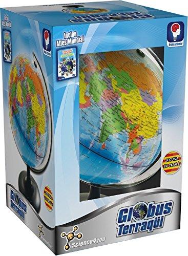 Science4you-398788 Globo terrestre y Atlas Mundial, Stem (398788