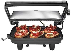 Hamilton Beach 25460-IN 1400-Watt Painini Press Gourmet Sandwich Maker (Chrome)