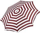 Zangenberg 64381_824 Sonnenschirm Korfu 200 cm, rund, 8-teilig, bordeaux / weiß
