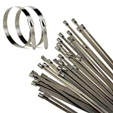 100er 200x4.6mm Edelstahl Kabelbinder Metall Kabelbinder Edelstahlbinder Metallkabelbinder Stahlband Hitzeschutzband