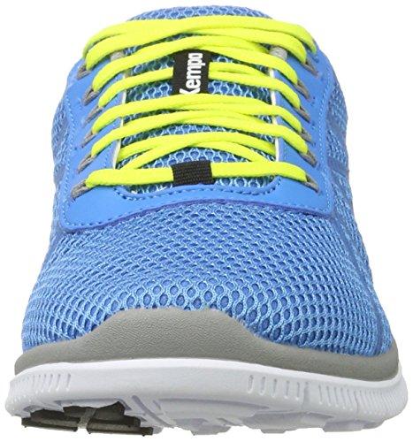 Kempa K-Float, Scarpe da Basket Unisex – Adulto Blu (Bleu Cendré/jaune Spring)