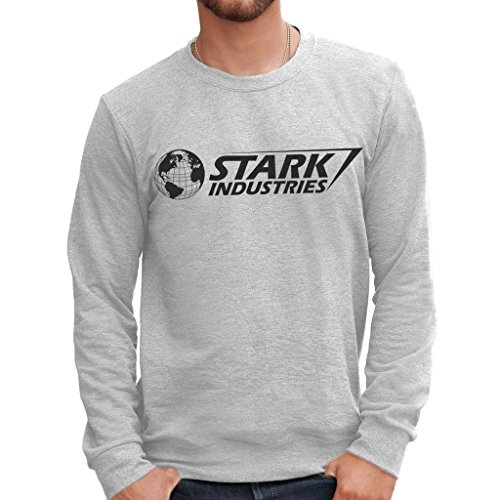 MUSH Sweatshirt Stark Industries Iron Man - Film by Dress Your Style - Herren-L Grau