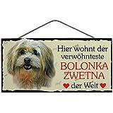 Geschenk Dekoration Dekoschild Schiefertafel Dobermann /« VORSICHT VOR DEM FRAUCHEN DER HUND IST HARMLOS /» Schild mit Hunde Motiv