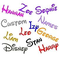 AC Vinyl Designs 2 x Personalised Disney Font Name sticker 70mm long bottle glass wall home art craft book laptop window bumper van house