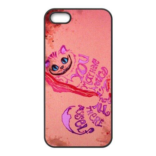 Alice in Wonderland Film de protection Nouveau Attractive couleur peinture dur protecteur de peau et étuis de protection Case Etui Coque pour Apple iPhone 55S